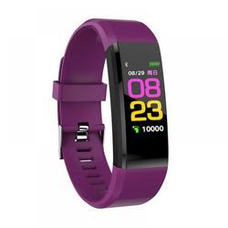 Waterproof Smart Bracelet Watch,Fitness Tracker with Heart Rate Monitor, Fitness Tracker Smart Watch, Sport Watch with Step Counter,Monitoring Smart Wristband Fitness Band, Purple