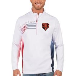 Chicago Bears Antigua Liberty Quarter-Zip Pullover Jacket - White/Navy
