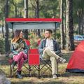 Goplus Portable Folding Camping Canopy Chairs w/ Cup Holder Cooler Outdoor Red