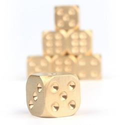 Metal Dice Metal Cool Christmas Gift Dice Never Rust Creative Gift Dices Car Ornaments