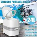 6.3 Gallon Travel Camping Toilet Commode Potty, Portable Toilet with Push Button Flush, Travel Camping Commode Potty Outdoor/Indoor, Camping RV Outdoor Indoor Potty Commode