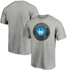 Charlotte FC Fanatics Branded Primary Logo Team T-Shirt - Heathered Gray
