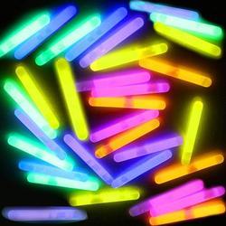 Adoreco 120Pcs Mini Glow Sticks Bulk with 6 Colors, Fishing Float, Glow in The Dark Mini Sticks, Light up Glow Sticks, Glow Mini Stick, Glow Sticks Party