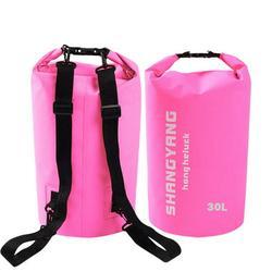 Waterproof Dry Bag - Soatuto Water Resistant Roll Top Dry Compression Sack Keeps Gear Dry for Kayaking, Beach, Rafting, Boating, Hiking, Camping and Fishing Waterproof Dry Bag - 30L / Pink