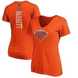 RJ Barrett New York Knicks Fanatics Branded Women's Playmaker Name & Number V-Neck T-Shirt - Orange