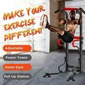 SUNYUAN Home Pull Up Dip Stand Power Tower Adjustable Multi-Function Fitness Strength Training Equipment Pull Up Bar Strength Training Exercise Indoor Sport withstand a maximum weight of 330 lbs