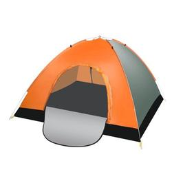 Camping Tent, 3-4 Person Tent for Camping Waterproof, Windproof Fabric, Anti-UV Ultralight Folding Tent Turn on Automatic Opening Tent For Hiking Fishing Travel Beach, Portable with Carry Bag