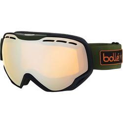 Bolle Emporer Snowmobile Googles - Black-Khaki Army Green w/Amber Gun Lens / One Size