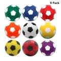 Oumuamua Foosball Table Balls 142 Inch Table Soccer Balls For Foosball Tabletop Game Foosball Accessory Replacements Multicolor (9 Pack)