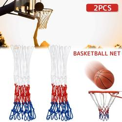 HOTBEST 2Pcs Heavy Duty Basketball Net for All-Weather, Standard 12 Loop Basketball Net Replacement Tri-colored Basketball Hoop Net Accessories