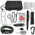 Survival Kit 13 in 1, Survival Gear and Equipment Emergency Survival Tools Birthday Gift for Men Dad Him Husband with Hunting Knife/Tactical Flashlight for Camping Hiking Outdoor Adventure