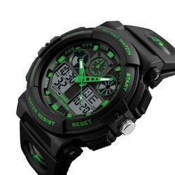 Men's Watches Men Black Dual Display Digital Quartz Wrist Watch Mens Sport Watches Men Waterproof watch 1270