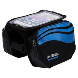 WALFRONT 3 Colors Waterproof Bicycle Frame Pannier Bike Front Head Top Tube Bag Cell Phone Accessories, Bicycle Frame Bag, Bicycle Bag