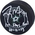"""Tyler Seguin Dallas Stars Autographed Official Game Puck with """"1st Stars Goal 10/11/13"""" Inscription - Fanatics Authentic Certified"""