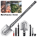 Folding Shovel Military Survival Shovel Multi Tool Portable Tactical Entrenching Tool Compact Backpacking for Hunting, Camping, Hiking, Fishing, Gardening Car Emergency