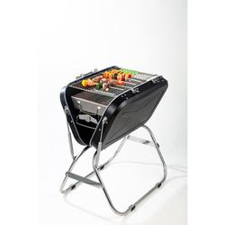 Hazel Tech--Portable BBQ - Stainless Steel Folding BBQ Camping Grill Large Portable Camping Cooking for Travel Grill Outdoor