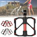 1 PAIR Mountain Road Bike Pedals Aluminum Alloy Cycling 3 Ball Sealed Bearing Pedals Flat Platform Bicycle Pedal Lightweight Anti-skid
