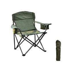 Camping Folding Chair - Oversized Camping Chair with Cooler Bag Folding Camping Portable Chair Steel Frame Collapsible Support 350 lbs