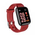 Prettyui Smart Watch Fitness Tracker Watches Heart Rate Monitor IP67 Waterproof Digital Watch with Step Calories Sleep Tracker Red
