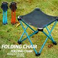 Camping Stool Folding Chairs Outdoor Folding Stool Lightweight Chairs Portable Collapsible Chair for Hiking Fishing Seat, Red