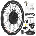 26x1.75'' Electric Bike Conversion Kit Bike Rear Wheel Hub Motor Kit 48V 1000W Powerful E-Bike Motor Kit Brushless Controller PAS Signal Light Bike Brake Shifter Kit