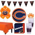 Party City Super Football Party Supplies for 18 Guests, Include Plates, Napkins, Table Cover, and Balloons