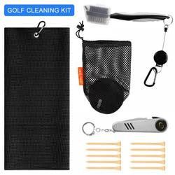 Golf Cleaning Tools Five Piece Golf Cleaning Accessories for Golf Bag, Golf Groove Cleaning Tool, Golf Ball Cleaner Set