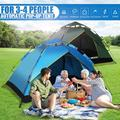 Camping Tent, Pop Up Tent,Tent with Easy Set Up for Outdoors 3-4 Person Family Tent,Multi-Purpose Tents Waterproof Windproof for Camping Hiking