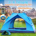Pop Up Tent Family Camping Tent 3-4 People Person Tent Portable Instant Tent Automatic Tent Waterproof Windproof for Camping Hiking Mountaineering
