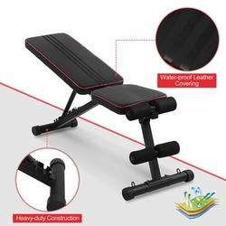 Octpeak Adjustable Exercise Weight Bench,Home Gym Fitness Adjustable Bench Foldable Incline Decline Weight Workout Dumbbell Bench,Dumbbell Bench
