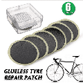 Chainplus 6 Pieces Bike Puncture Repair Patches Bike Tire Patch Repair Kit,Bicycle Tube Puncture Rubber Self Adhesive Patches with Metal Rasp Sandpaper and Portable Case for Bike Tire Puncture Repair