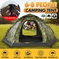 Waterproof Instant Camping Tent, 4-6 Person Easy Quick Setup Dome Family Tents Outdoor Camping Tent Sun Shade for Camping