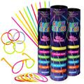 VANDOONA 300 Glow Sticks Bulk Party Supplies Fun Pack with 6 Sunglasses Connectors Sets Included