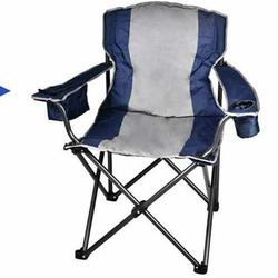 Portable Folding Single Chair with Steel Frame & Cup Holder, Lightweight Compact Camping Chair, Camping Folding Chair, Easy Storage with Storage Bag, Folding Chair, Fit for Hiking and Camping, T24
