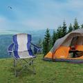 GOODWORLD Folding Beach Chair, 600D Oxford PVC Portable Campting Chair, teel Tube Frame Travel Chair, Folding Lightweight Mesh Chair for Camping Outdoor Lawn, Max 350Lbs, White