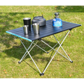 Portable Camping Table Aluminum Top Table, Folding Beach Table with Compact Bag Easy to Carry, Prefect for Outdoor, Picnic, BBQ, Cooking, Festival, Beach, Home
