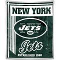 "NFL New York Jets ""Old School"" 50"" x 60"" Mink Sherpa"