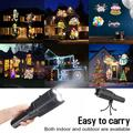 2in1 LED Projector Lamp Handheld Flashlight Christmas Laser Light Outdoor Garden with Battery