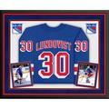 Henrik Lundqvist New York Rangers Deluxe Framed Autographed Blue Fanatics Breakaway Jersey - Fanatics Authentic Certified