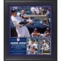 """Aaron Judge New York Yankees Fanatics Authentic Framed 15"""" x 17"""" Second Yankee to Hit Home Runs in First Two Games Collage - No Size"""