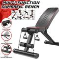 Myriann Adjustable/Foldable Utility Weight Bench 7 Gears Foldable Dumbbell Bench for Home Gym Weightlifting and Strength Training