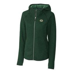 Green Bay Packers Cutter & Buck Women's Mainsail Full-Zip Jacket - Green