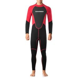 SAKINNO 2mm Neoprene Full Body Dive Wetsuit Rash Guard for Men Women Protection Swimwear for Snorkeling Surfing Diving Swimming Sailing