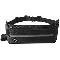 Nuoterm Fanny Pack Waist Bag for Unisex, Travel Waist Pack, Adjustable Belt, Waterproof Waist Pack, Multifunction, Ultra-Thin, Light, Suitable for Phones and Tablets up to 6.5 inches - Black