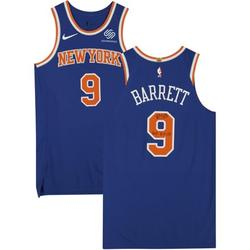 RJ Barrett New York Knicks Autographed Game-Used #9 Blue Jersey vs. Chicago Bulls on February 1, 2021 - Size 48+4 with Game Used Inscriptions - Fanatics Authentic Certified
