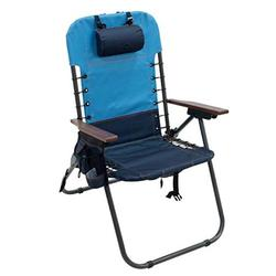 Rio Gear Hi-Boy 4-Position Lace-Up Suspension Backpack Camping Chair - Blue Sky/Navy