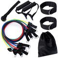 Exercise Resistance Bands Set,Fitness Stretch Workout Bands 11PCS with Fitness Tubes, Foam Handles, Ankle Straps, Door Anchor for Home Gym Fitness,for Men Women