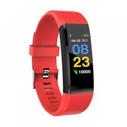 Waterproof Smart Bracelet Watch,Fitness Tracker with Heart Rate Monitor, Fitness Tracker Smart Watch, Sport Watch with Step Counter,Monitoring Smart Wristband Fitness Band, Red