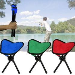 Folding Stool Camping, Portable 3 Legs Chair Tripod Seat Oxford Cloth For Outdoor Hiking Fishing Picnic Travel Beach BBQ Garden Lawn