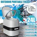 10/12/20/24L Camping Toilet Portable Toilet Camping Potty Loo Toilet Pregnant Woman Elderly Toilet Indoor Outdoor Household Camping Caravan Picnic Fishing